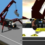 VR Simulator of Unic mini-crane